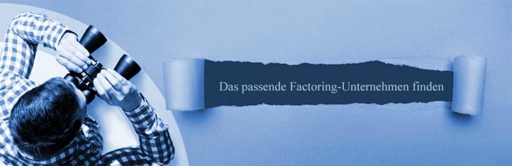 Das passende Factoring-Unternehmen finden