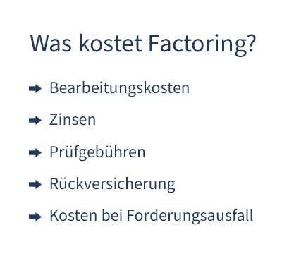 Was kostet Factoring? So setzen sich die Kosten zusammen.